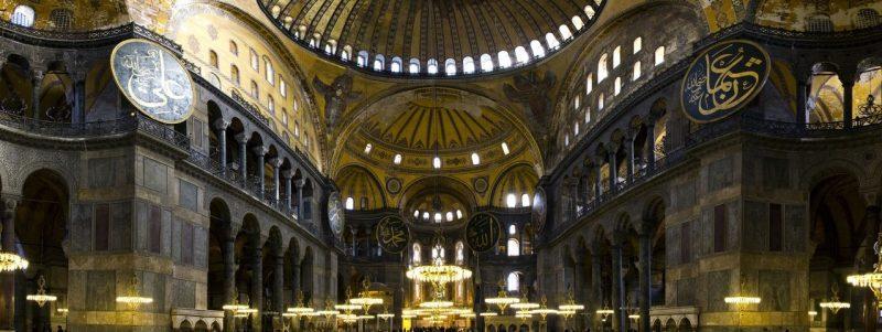 نمای درونی مسجد ایاصوفیه
